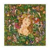 Fairies in the Ivy Lámina giclée por Linda Ravenscroft