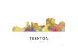Trenton New Jersey Skyline Giclee Print by Marlene Watson