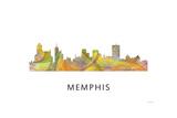 Memphis Tennessee Skyline Giclee Print by Marlene Watson