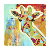 Calypso the Giraffe Giclee Print by Jennifer McCully