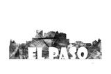 El Paso Texas Skyline BG 2 Giclee Print by Marlene Watson