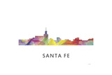 Santa Fe New Mexico Skyline Giclee Print by Marlene Watson