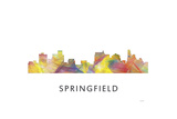Springfield Illinois Skyline Giclee Print by Marlene Watson