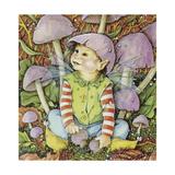 Funguy I Am Just a Fun Guy Giclee-trykk av Linda Ravenscroft