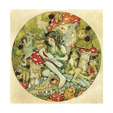 Ll Tell You a Tale Ink and Watercolour 2 Lámina giclée por Linda Ravenscroft