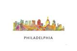 Philadelphia Skyline Giclee Print by Marlene Watson