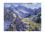 Precipices and Peaks Giclee Print by Randy Van Beek