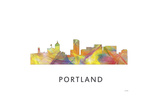 Portland Oregan Skyline Giclee Print by Marlene Watson