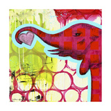 Hot Pink Elephant Giclee Print by Jennifer McCully