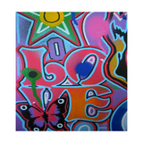 Amore  Stampa giclée di  Abstract Graffiti