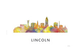 Lincoln Nebraska Skyline Giclee Print by Marlene Watson