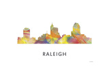 Raleigh North Carolina Skyline Giclee Print by Marlene Watson