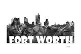 Fort Worth Texas Skyline BG 2 Giclee Print by Marlene Watson