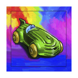 Pop-Art Deco Race Car Toy Giclee Print by Howie Green