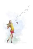 Golf Player 2 Gicléetryck av Marlene Watson