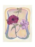 Art Deco Petunias Giclee Print by Judy Mastrangelo