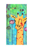 What's Up Giraffe Giclee Print by Jennifer McCully
