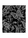 Mod Paisley Black Giclee Print by Jyotsna Warikoo