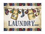 Help Wanted Laundry Giclee Print by Laurie Korsgaden