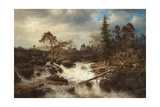 Romantic Landscape with Waterfall Giclee Print by Marcus Larson