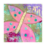 Pink Butterfly Giclee Print by Jennifer McCully