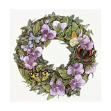 Violas and Butterflies Giclee-trykk av Linda Ravenscroft