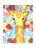 Watercolor - Giraffe Giclee Print by Jennifer McCully