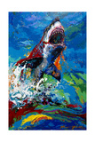 The Lawyer Breeching Great White Shark Giclee Print by Jace D. McTier