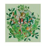 Winter Robin 2 Giclee-trykk av Linda Ravenscroft