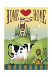 Cow Home Giclee Print by Margaret Wilson