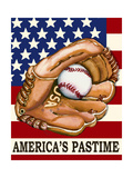 Americas Passtime Giclee Print by Laurie Korsgaden
