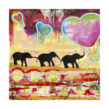 The Elephant Walk Giclee Print by Jennifer McCully