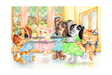 Pirouette Pets Giclee Print by Karen Middleton