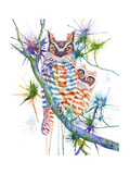Momma and Baby Owl Giclee Print by Michelle Faber