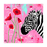 Zebra Giclee Print by Jennifer McCully