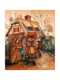 Thumbelina and Mrs Mouse Giclee Print by Judy Mastrangelo