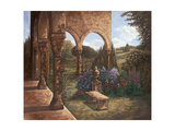 Rose Cloister Giclee Print by Judy Mastrangelo