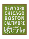 Garden Itinerary Giclee Print by Margaret Wilson
