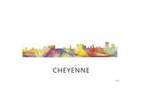 Cheyenne Wyoming Skyline Giclee Print by Marlene Watson