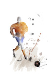Soccer Player 07 Giclee Print by Marlene Watson