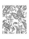 Mod Paisley Whie Giclee Print by Jyotsna Warikoo