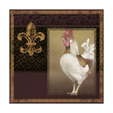 Rooster Ware Burgundy III Giclee Print by Kory Fluckiger
