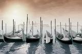 Gondolas Pano Color Photographic Print by Moises Levy