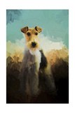 Fox Terrier on Alert Giclee Print by Jai Johnson
