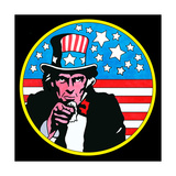 Pop Art Uncle Sam Circle Giclee Print by Howie Green