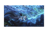 All My Waves Mother and Baby Bottlenose Dolphin Giclee Print by Lucy P. McTier
