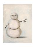 Snowman Giclee Print by Leah Saulnier