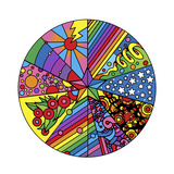 Star Circle 2 Giclee Print by Howie Green