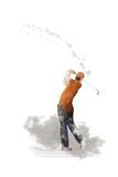 Golf Player 1 Giclee Print by Marlene Watson
