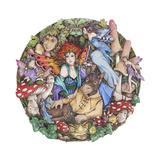 Titania and Bottom Giclee-trykk av Linda Ravenscroft
